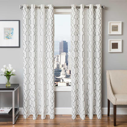 Softline Quail Drapery Panels completes your decorated home with an oval overlay design.