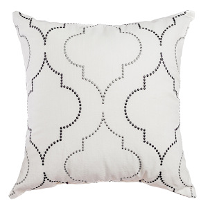 Softline Home Fashions Tarsus Decorative Pillow in Grey Pewter color.
