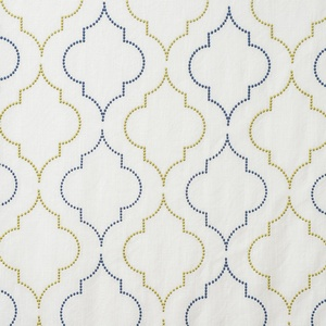 Softline Home Fashions Tarsus Drapery Panels Swatch in Grey Yellow color.