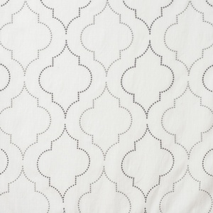 Softline Home Fashions Tarsus Drapery Panels Swatch in Grey Pewter color.