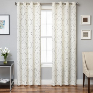 Softline Home Fashions Tarsus Drapery Panels in Grey Pewter color.
