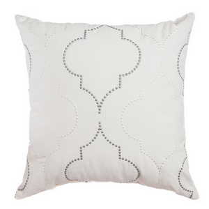 Softline Home Fashions Tarsus Decorative Pillow in Grey White color.