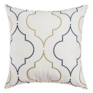 Softline Home Fashions Tarsus Decorative Pillow in Grey Yellow color.