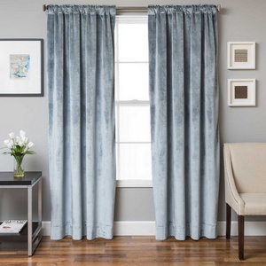 Softline Home Fashions Terni Solid Drapery Panels in Mist color.
