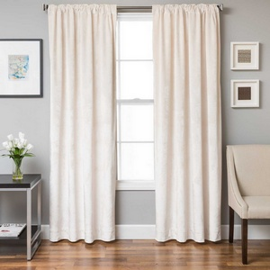 Softline Home Fashions Terni Solid Drapery Panels in Pearl color.