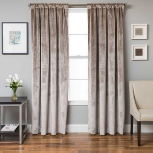 Softline Home Fashions Terni Solid Drapery Panels in Walnut color.