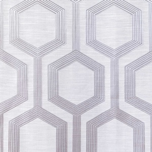Softline Home Fashions Trento Drapery Panels Swatch in Platinum color.