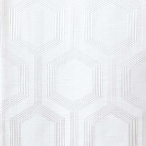 Softline Home Fashions Trento Drapery Panels Swatch in White color.