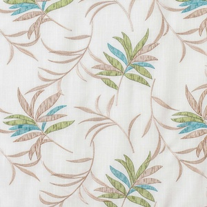 Softline Home Fashions Turin Drapery Panels Swatch in Green Blue color.
