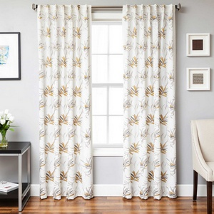 Softline Home Fashions Turin Drapery Panels in Gold Pewter color.