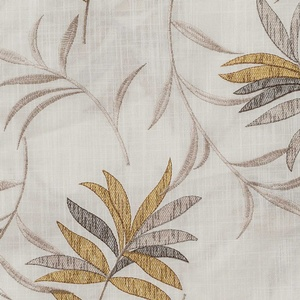 Softline Home Fashions Turin Drapery Panels Swatch in Gold Pewter color.