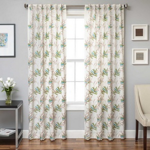 Softline Home Fashions Turin Drapery Panels in Green Blue color.