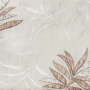 Softline Home Fashions Turin Drapery Panels Swatch in White Taupe color.