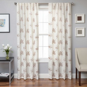 Softline Home Fashions Turin Drapery Panels in White Taupe color.