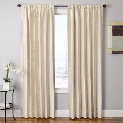 Softline Tuscany Stripe Drapery Panels is available in 4 color combinations.