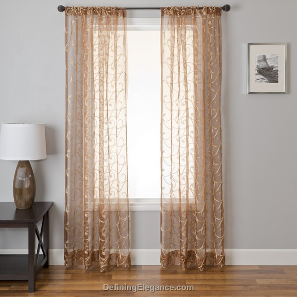 UUU Softline Home Fashions Drapery Zayna Sheer Panel