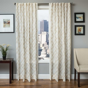 Softline Home Fashions Zermatt Drapery Panels in Champagne color.