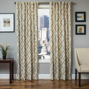 Softline Home Fashions Zermatt Drapery Panels in Latte color.
