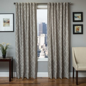 Softline Home Fashions Zermatt Drapery Panels in Light Grey color.
