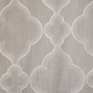 Softline Home Fashions Zermatt Drapery Panels Swatch in Light Grey color.