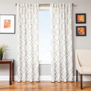 Softline Home Fashions Zermatt Drapery Panels in Pewter color.
