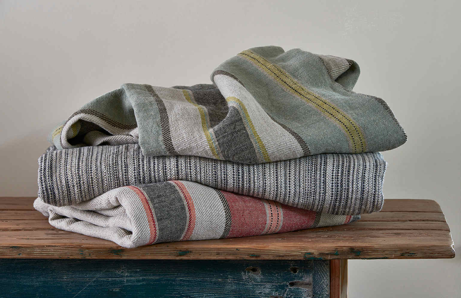 Traditions Linens Camp and Lindsey Linen Blanket Throw Collection on