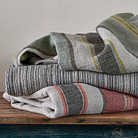 This stone washed linen blanket is a gorgeous texture and weight - Traditions Linens Camp Blanket & Sham.