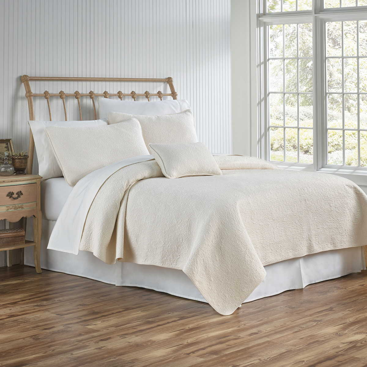 Traditions Linens Bedding Couture Matelasse Coverlet and Shams