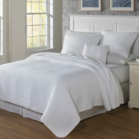 Traditions Linens Couture Matelasse Coverlet U0026 Shams White
