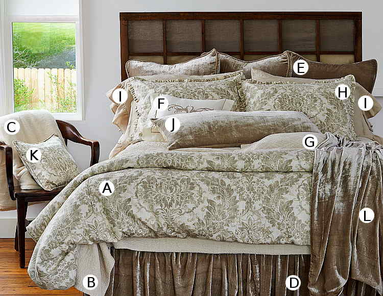 Traditions Linens Downton Bedding Collection