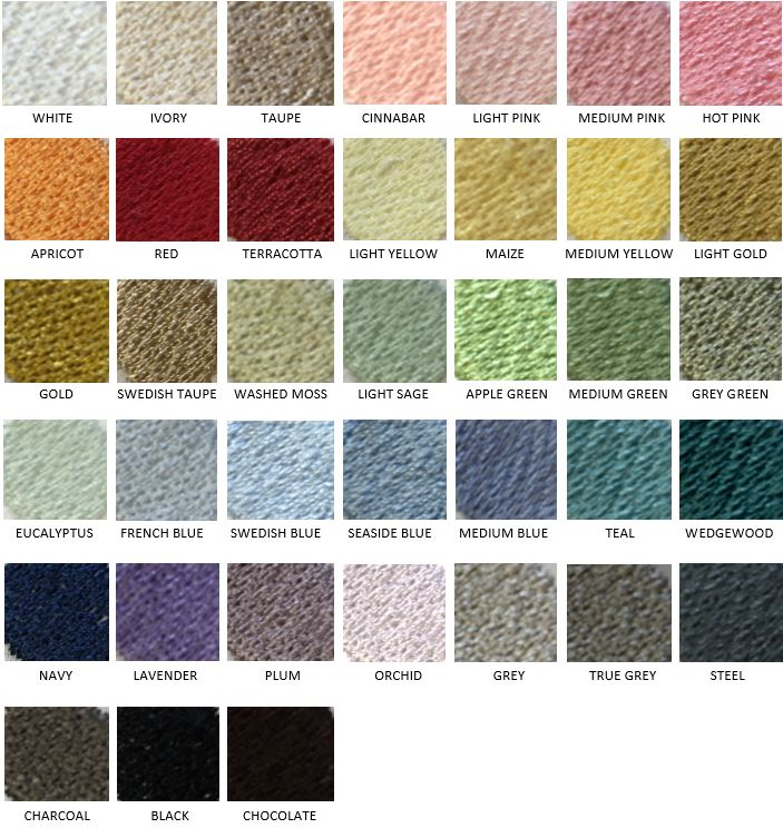 Traditions Linens Bedding Base Sheet & Embroidery Color Swatch Set