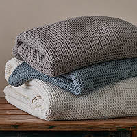 Harper Blankets, Throws and Shams are made from super soft cotton.