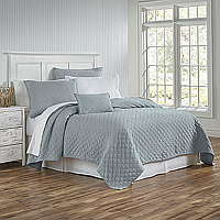 Traditions Linens's Louisa diamond quilted stone washed coverlet and shams are a fan favorite in every color!