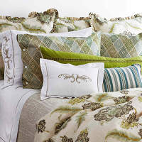 Traditions Linens Lucerne Bedding Collection hails from high atop and is our ode to all things alpine inspired.