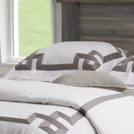 Traditions Linens Bedding Milano White Flanged Sham