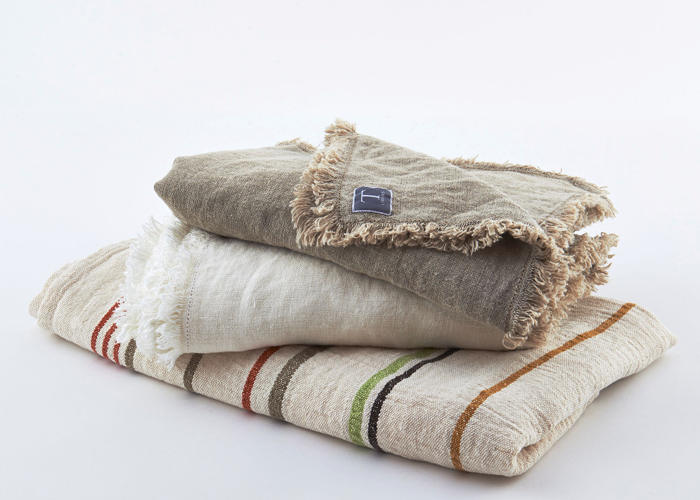 Traditions Linens Rustic Linen Throw