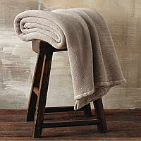 Sacha collection pieces are a soft and plush cotton thermal, available as blankets and throws.