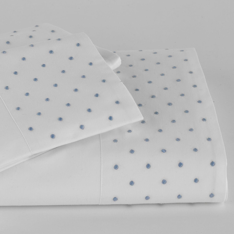 Traditions Linens Bedding Swiss Dot Sheet Set and Duvet