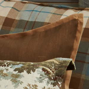 Traditions Linens Bedding Tuscany Linen Olive Mitered Sham