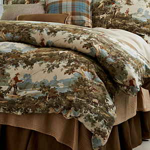 Traditions Linens Bedding Travis Reverse To Tuscany Linen Olive Duvet Cover