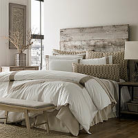 Traditions Linens rendition of refined and rustic.