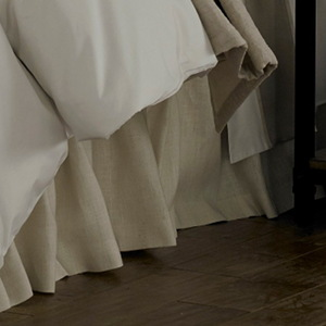 Traditions Linens Bedding Tuscany Linen Malt Dust Ruffle