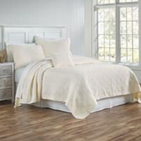 A super light weight almost gauzy feeling stone washed matelasse coverlet