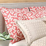 Wildcat Territory Bedding Coral Scroll Woven Sham