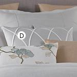 Wildcat Territory Helix Decorative Pillow with Frost Hankerchief Embellishment.