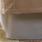 Wildcat Territory Natural Linen Bed Skirt