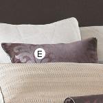 Wildcat Territory Cocoa Velvet Damask Bolster Pillow