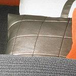 Wildcat Territory Bronze Faux Leather Decorative Pillow