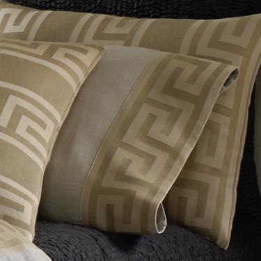 Wildcat Territory Bedding Natural Linen/Bronze Milos Key Pillowcase