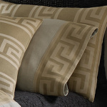 Wildcat Territory Natural Linen/Bronze Milos Key Pillowcase